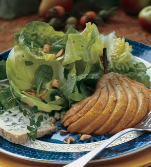 honey roasted pear salad