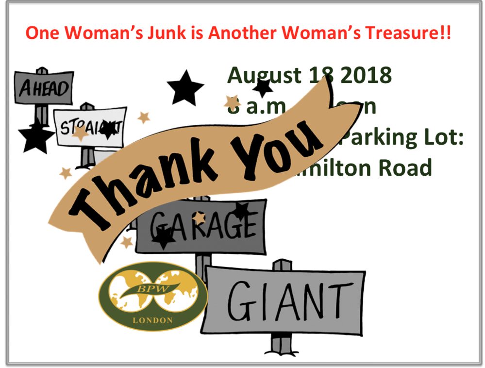 BPW London Garage Sale 2018